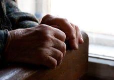 Mani della nonna Fotografie Stock Libere da Diritti