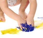 Mani della pittura Fotografie Stock