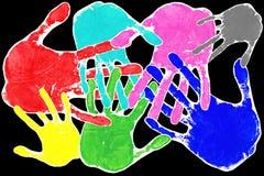 Mani di arte di schiocco Immagini Stock Libere da Diritti