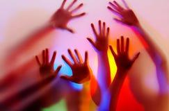 Mani di colore Immagine Stock