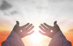 Mani di Jesus Christ immagine stock libera da diritti