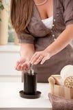 Mani di lavaggio Fotografie Stock