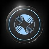 Mani di lavoro di squadra Logo umano del collegamento Immagine Stock Libera da Diritti