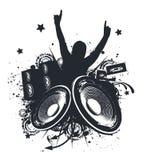 Mani di musica in su Immagine Stock