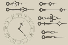 Mani di orologio Fotografie Stock