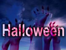 Mani di orrore di Halloween Fotografia Stock Libera da Diritti