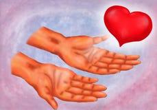 Mani di Reiki Immagine Stock