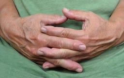 Mani di riposo Fotografia Stock Libera da Diritti