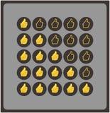 Mani di shilouette di vettore. Valutazione originale per il vostro Web site. Luxur royalty illustrazione gratis