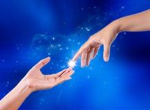 Mani di tocco Fotografia Stock