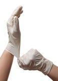 Mani di un medico Immagine Stock