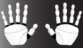 Mani di una spazzola del robot Immagini Stock Libere da Diritti