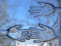 Mani di vetro Fotografie Stock