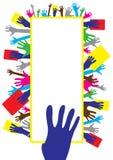 Mani di voto immagini stock libere da diritti