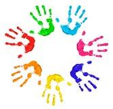 Mani dipinte fotografia stock libera da diritti