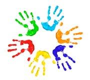 Mani dipinte immagini stock libere da diritti
