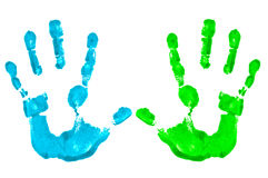 Mani dipinte immagine stock libera da diritti