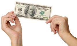 Mani e dollari Immagine Stock Libera da Diritti