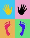 Mani e piedi Fotografie Stock Libere da Diritti
