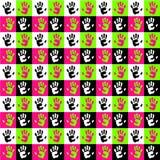 Mani e quadrati Fotografia Stock Libera da Diritti