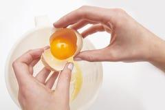Mani ed uovo Fotografia Stock Libera da Diritti