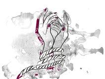 Mani femminili limitate royalty illustrazione gratis