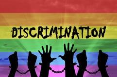 Mani gay della siluetta in manette Immagine Stock Libera da Diritti