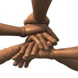 Mani impilate, spirito di gruppo, vista laterale Immagine Stock Libera da Diritti
