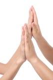 Mani insieme. Immagini Stock