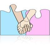 Mani insieme royalty illustrazione gratis