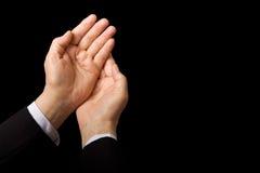 Mani maggiori dell'uomo d'affari - con copyspace immagine stock libera da diritti