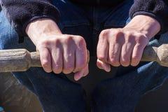 Mani maschili Immagini Stock