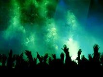 mani, nebbia ed indicatore luminoso Fotografia Stock