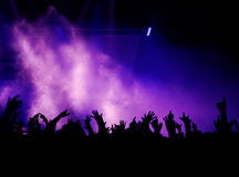 Mani, nebbia ed indicatore luminoso Immagini Stock Libere da Diritti