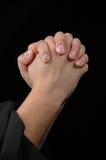 Mani nella preghiera Immagini Stock Libere da Diritti
