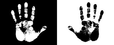 Mani nere & bianche Immagine Stock Libera da Diritti