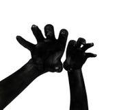 Mani nere Apocalisse dello zombie Immagine Stock Libera da Diritti