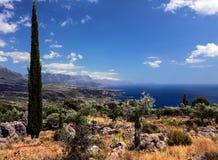 Mani Peninsula - le Péloponnèse - la Grèce Image libre de droits
