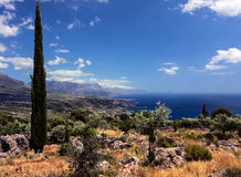 Mani Peninsula - o Peloponnese - o Grécia Imagem de Stock Royalty Free