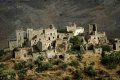 Mani peninsula stone houses Royalty Free Stock Photo