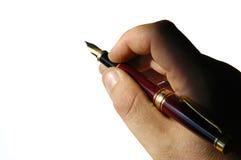 Mani - penna di fontana immagine stock libera da diritti
