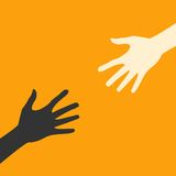Mani piane dell'icona di vettore astrazione ENV di colore Fotografia Stock Libera da Diritti