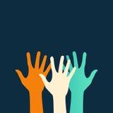 Mani piane dell'icona di vettore astrazione ENV di colore Immagini Stock