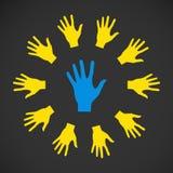 Mani piane dell'icona di vettore astrazione ENV di colore Fotografia Stock