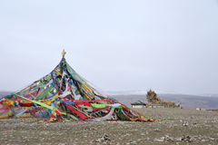 Mani pile for Prayer. Mani pile beside the Qinghai lake for Prayer Royalty Free Stock Images