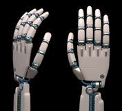 Mani robot Immagini Stock