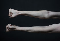 Mani sottili della morte Fotografie Stock Libere da Diritti