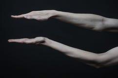 Mani sottili della morte Immagini Stock Libere da Diritti