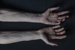 Mani sottili della morte Immagini Stock