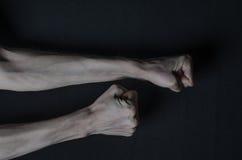 Mani sottili della morte Fotografia Stock Libera da Diritti